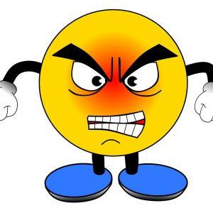 Wut im Fussball
